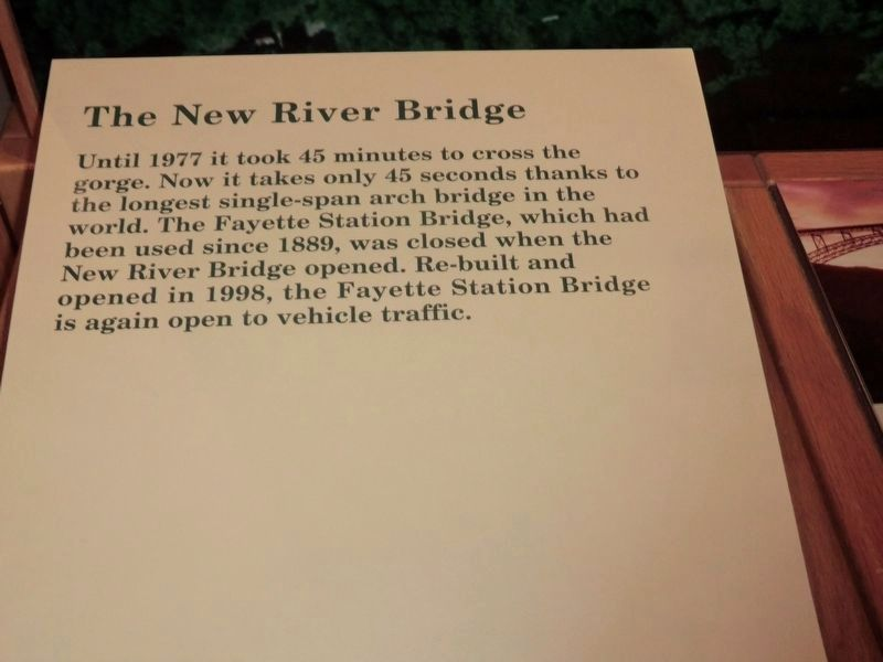 Inside the Visitor Center-New River Gorge National River image. Click for full size.