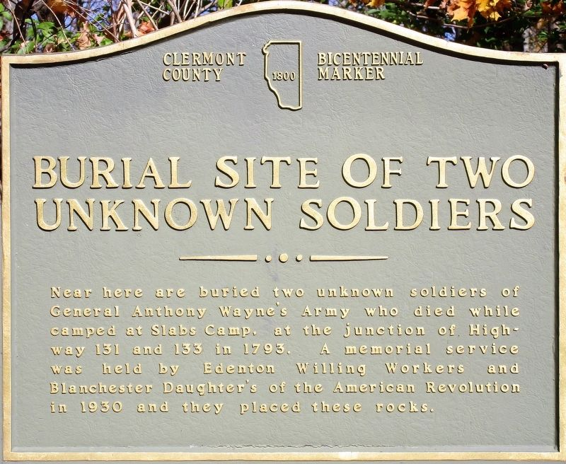 Burial Site of Two Unknown Soldiers Marker image. Click for full size.