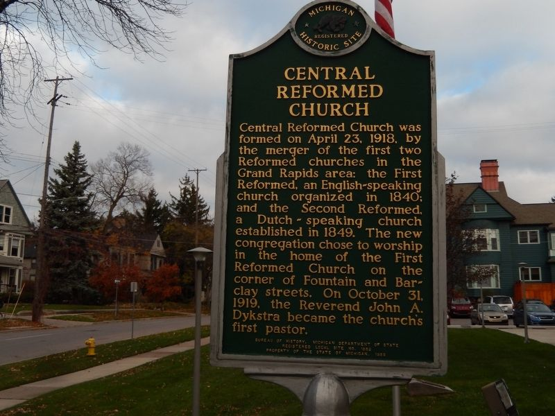Central Reformed Church Marker image. Click for full size.