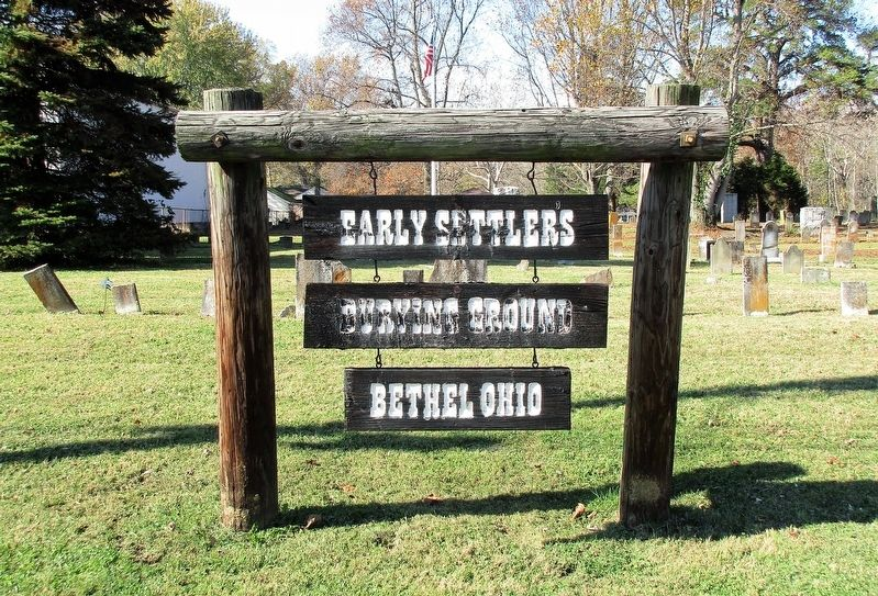 Early Settlers Burial Ground Marker image. Click for full size.