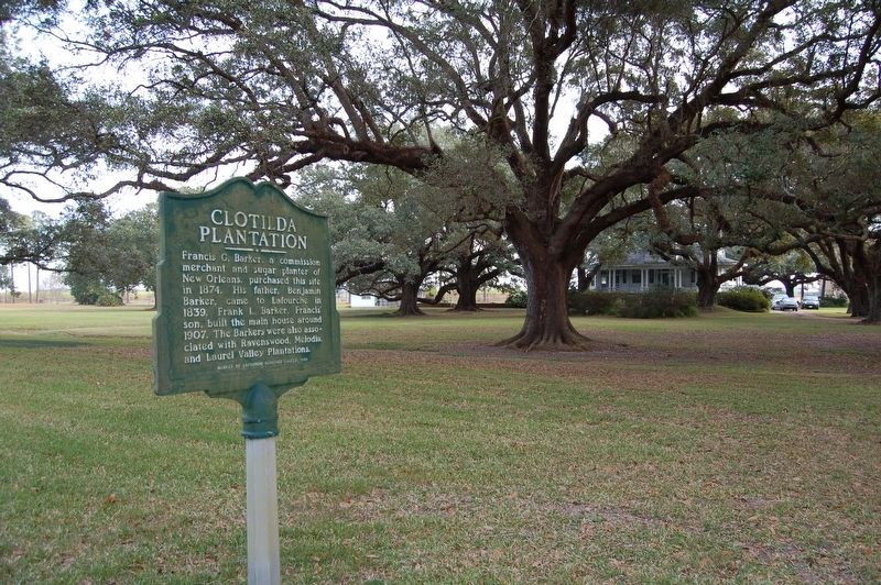Clotilda Plantation and Marker image. Click for full size.