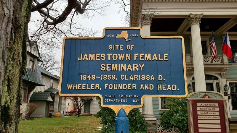 Site of Jamestown Female Seminary Marker image. Click for full size.