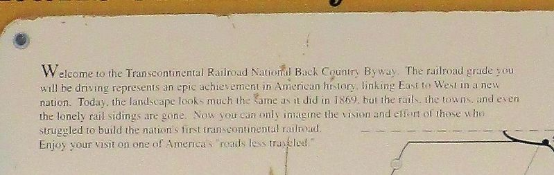 Transcontinental Railroad Marker image. Click for full size.