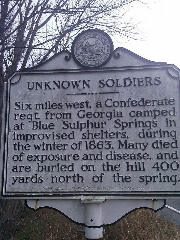 Unknown Soldiers Marker image. Click for full size.