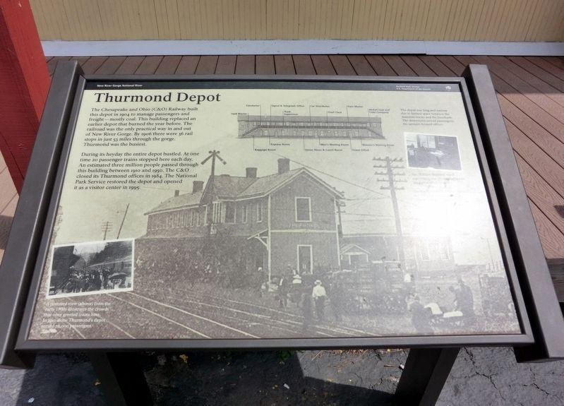 Thurmond Depot Marker image. Click for full size.