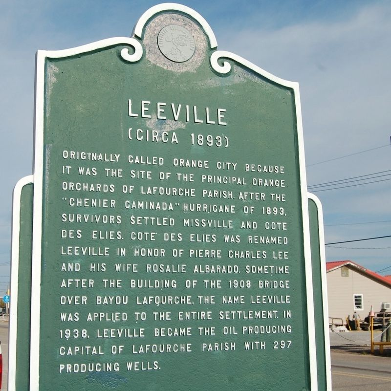 Leeville Marker image. Click for full size.