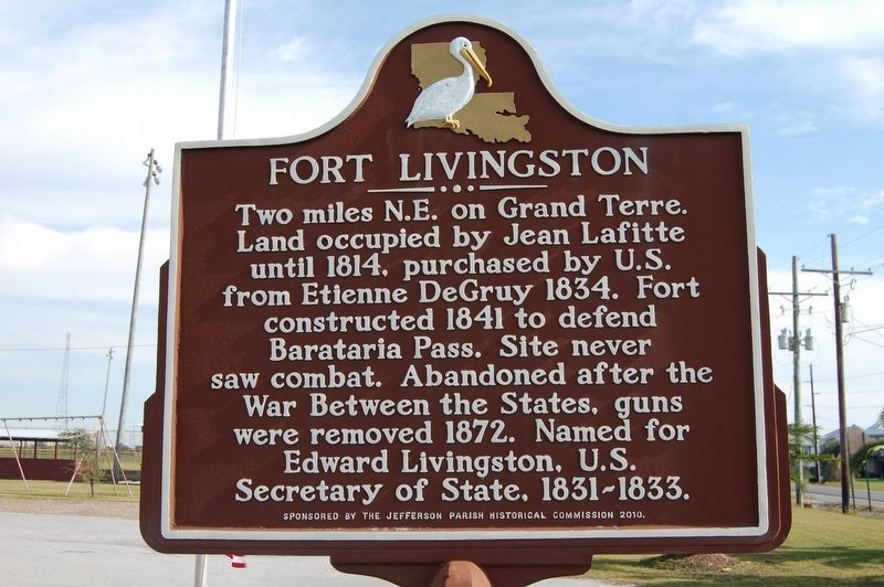 Fort Livingston Marker image. Click for full size.