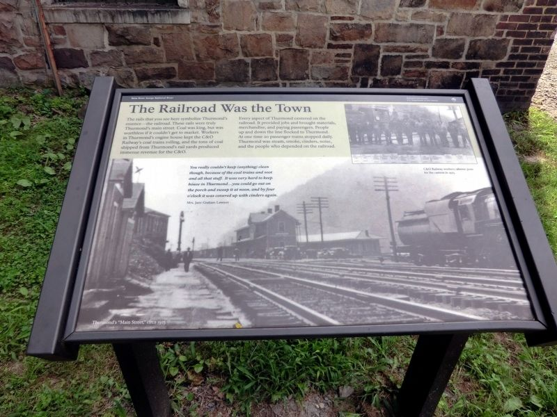 The Railroad Was the Town Marker image. Click for full size.