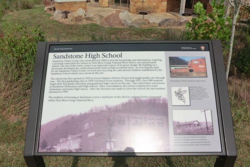 Sandstone High School Marker image. Click for full size.