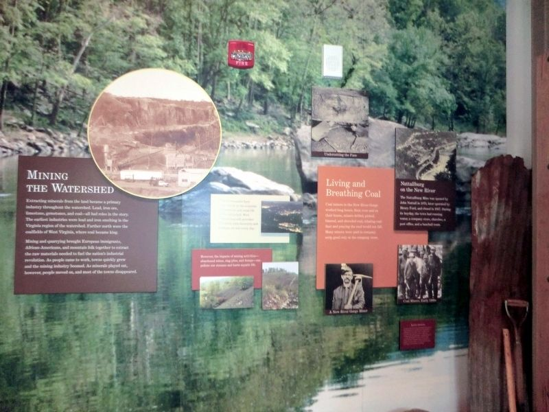 Inside the Sandstone Visitor Center image. Click for full size.