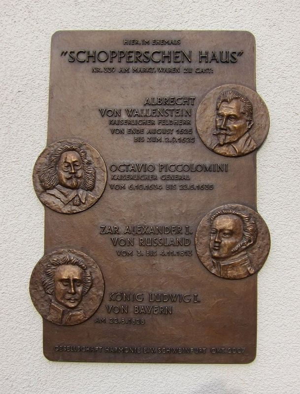Schopperschen Haus / Schopper's House Marker image. Click for full size.
