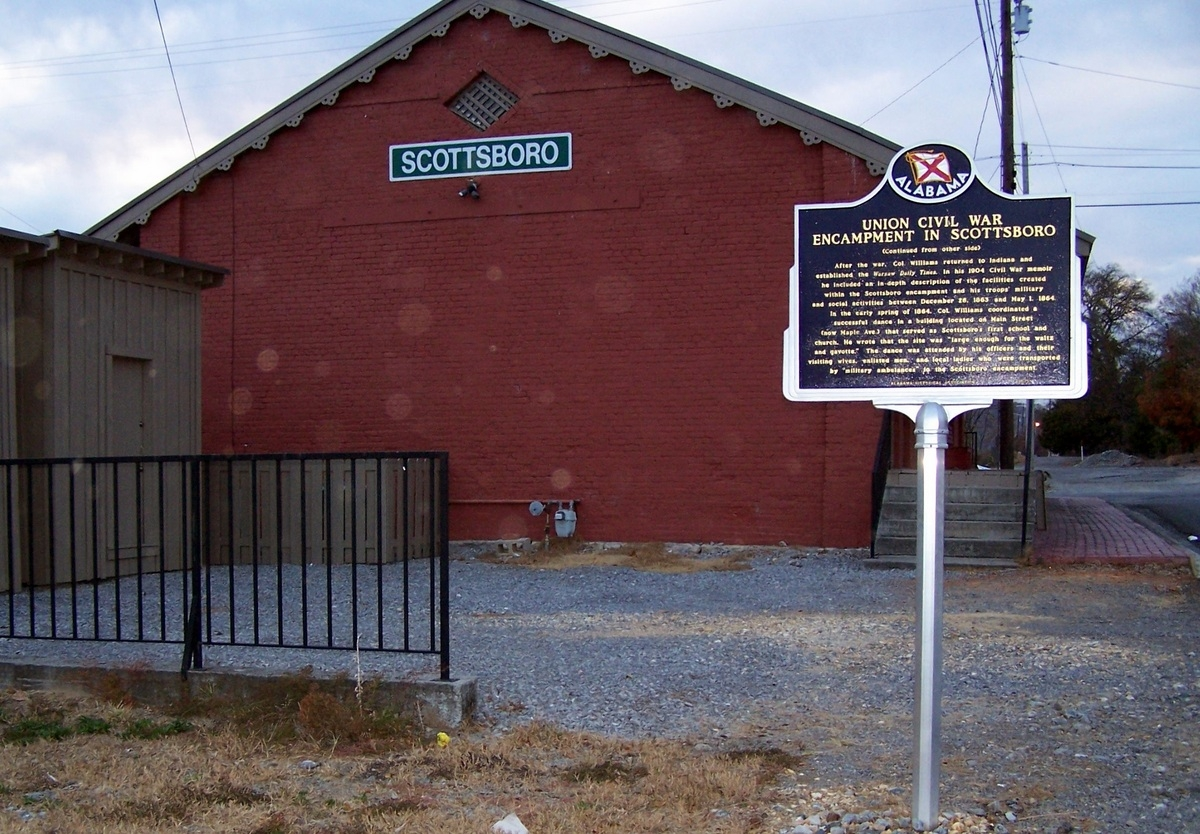 Union Civil War Encampment in Scottsboro Marker