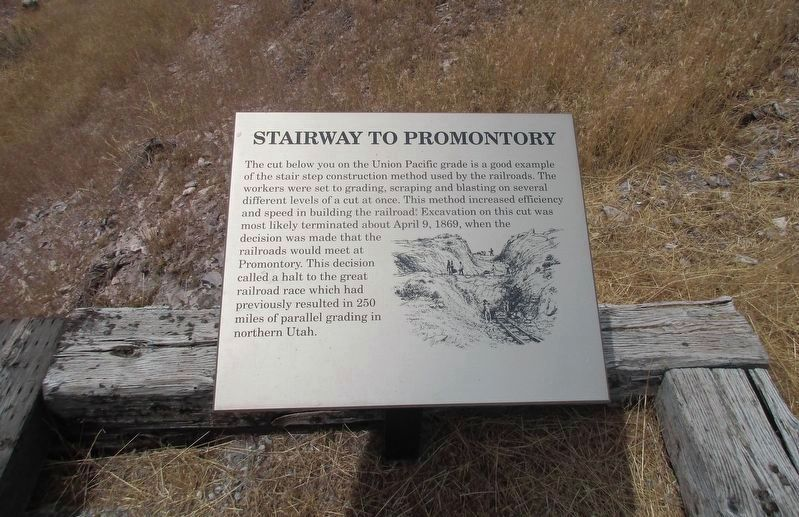 Stairway to Promontory Marker image. Click for full size.