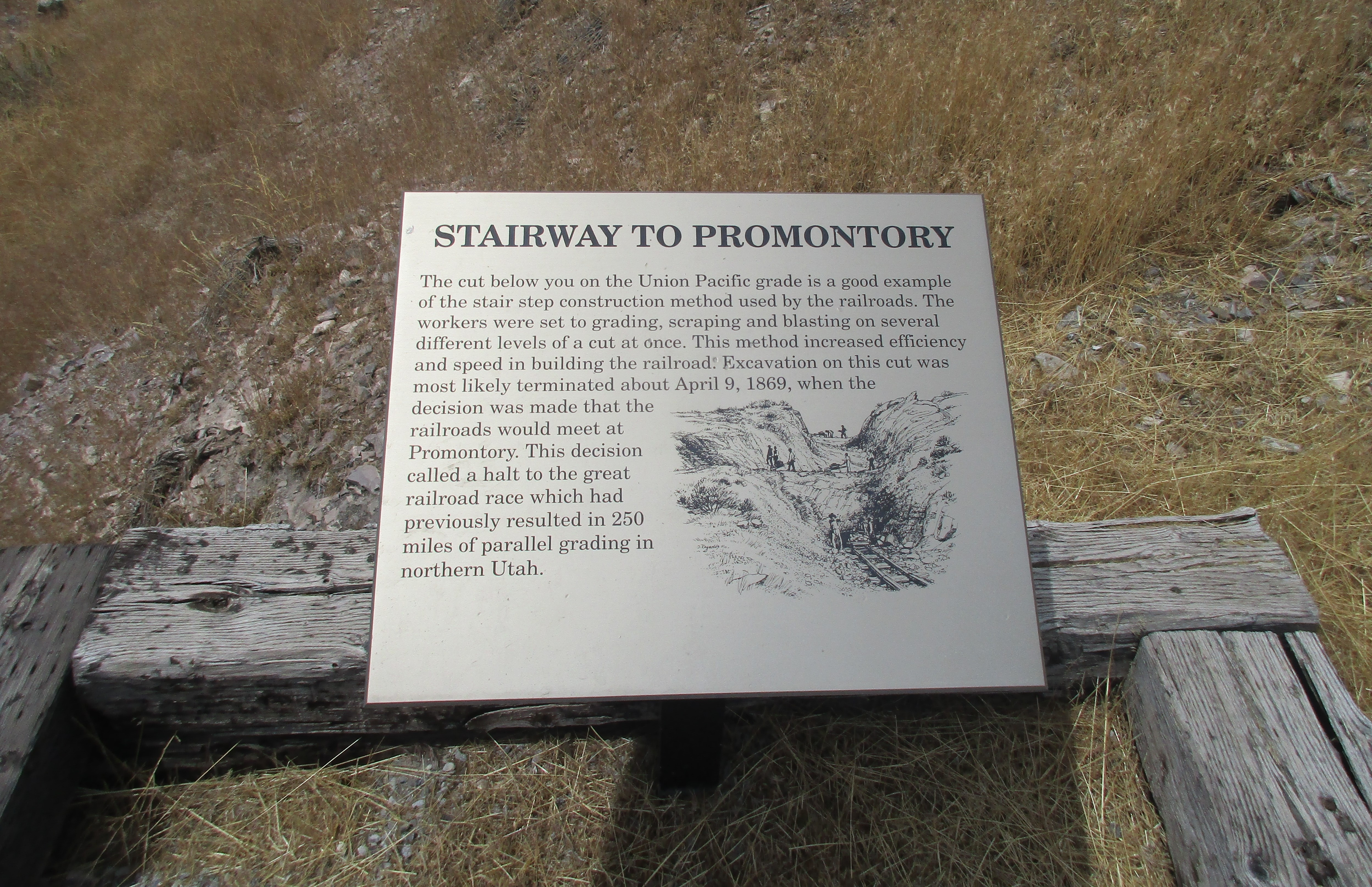 Stairway to Promontory Marker