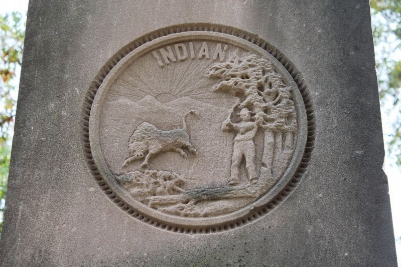 Indiana State Seal image. Click for full size.