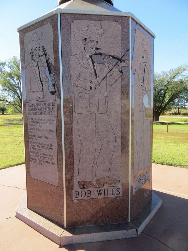 Bob Wills Marker (first side) image. Click for full size.