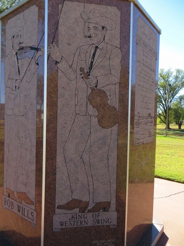 Bob Wills Marker (second side) image. Click for full size.