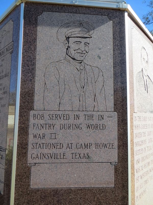 Bob Wills Marker (fourth side) image. Click for full size.