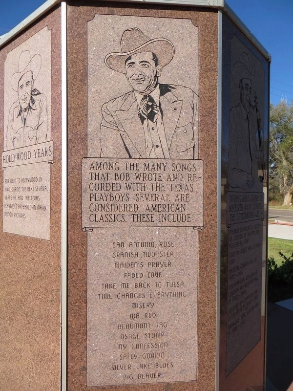 Bob Wills Marker(seventh side) image. Click for full size.