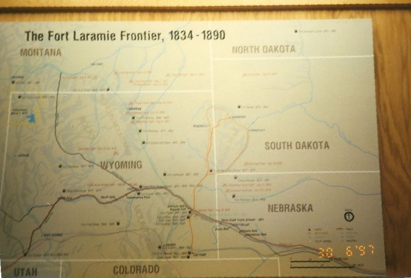 Inside the Fort Laramie Visitor Center image. Click for full size.