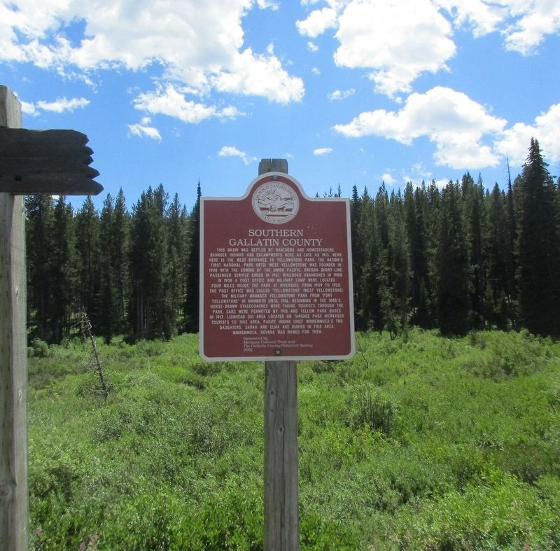 Southern Gallatin County Marker image. Click for full size.