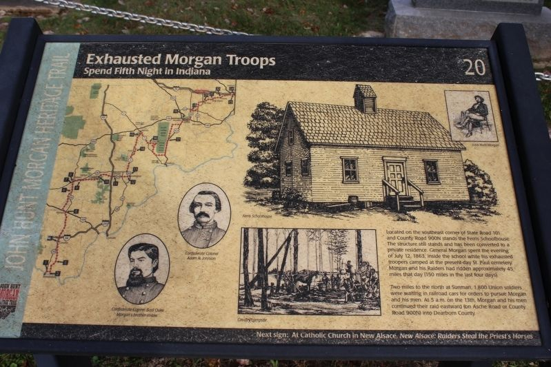 Exhausted Morgan Troops Marker image. Click for full size.