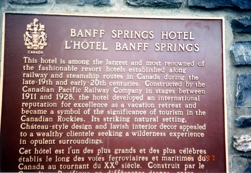 Banff Springs Hotel Marker image. Click for full size.