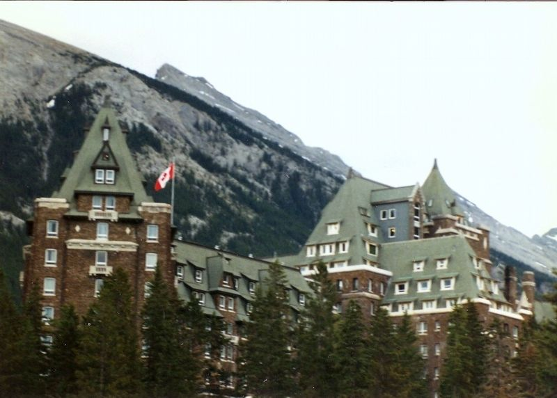 Banff Springs Hotel-Canadian Rockies in the background image. Click for full size.