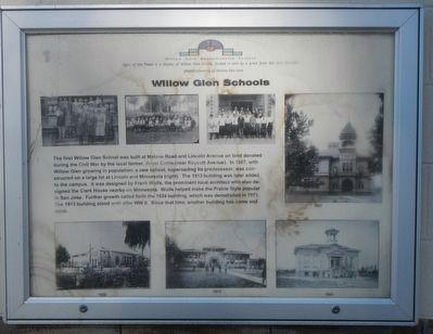Willow Glen Schools Marker image. Click for full size.