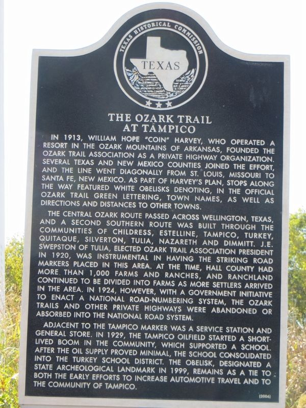 The Ozark Trail at Tampico Marker image. Click for full size.