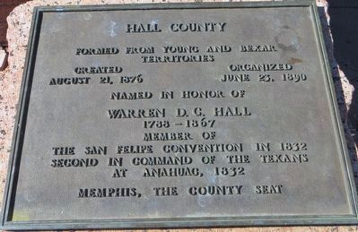 Hall County Marker image. Click for full size.