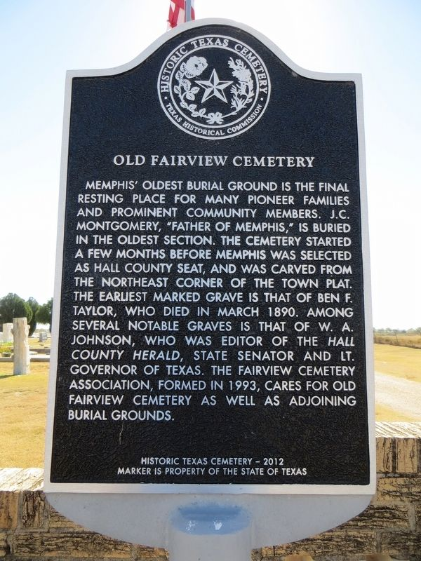 Old Fairview Cemetery Marker image. Click for full size.