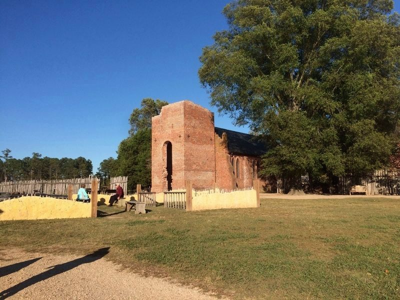 The reconstructed Jamestown Church image. Click for full size.
