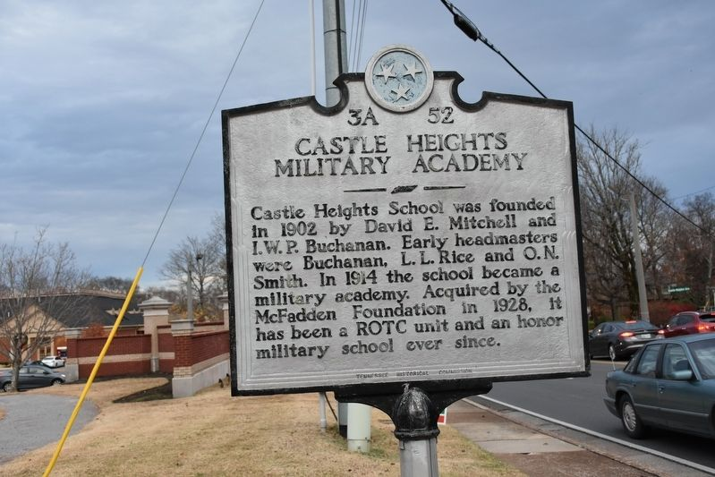 Castle Heights Military Academy Marker image. Click for full size.