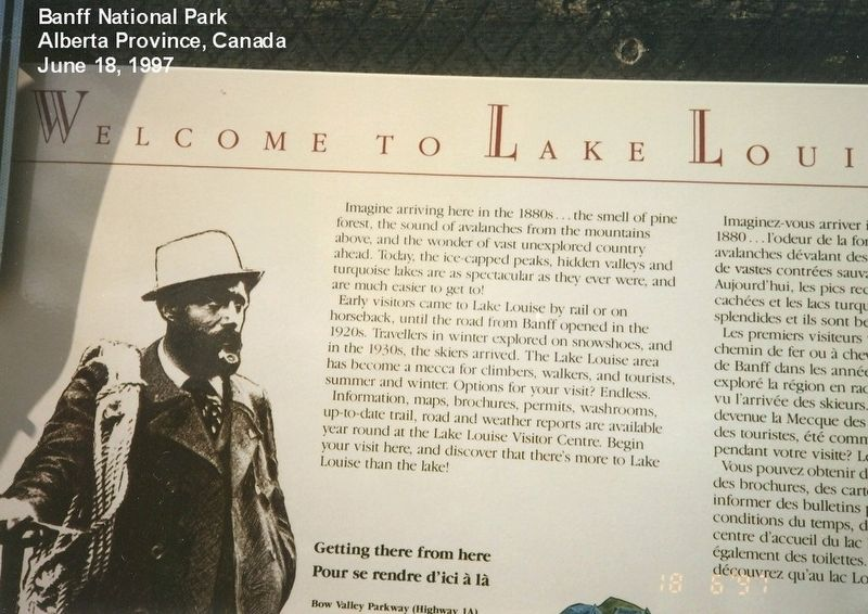 Lake Louise-Welcome Marker image. Click for full size.