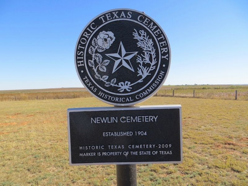 Newlin Cemetery Marker image. Click for full size.