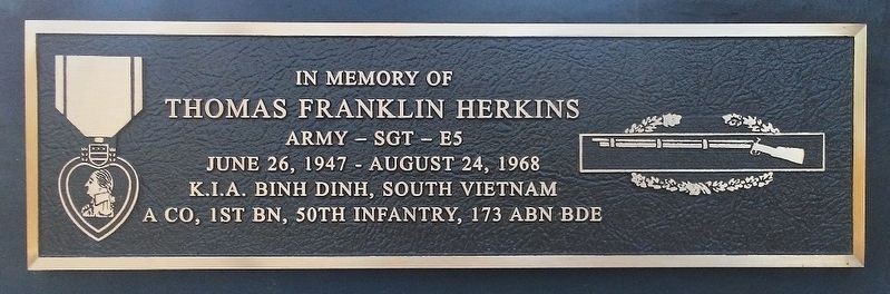 Thomas Franklin Herkins Marker image. Click for full size.