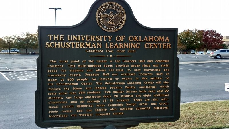 The University of Oklahoma Schusterman Learning Center Marker image. Click for full size.