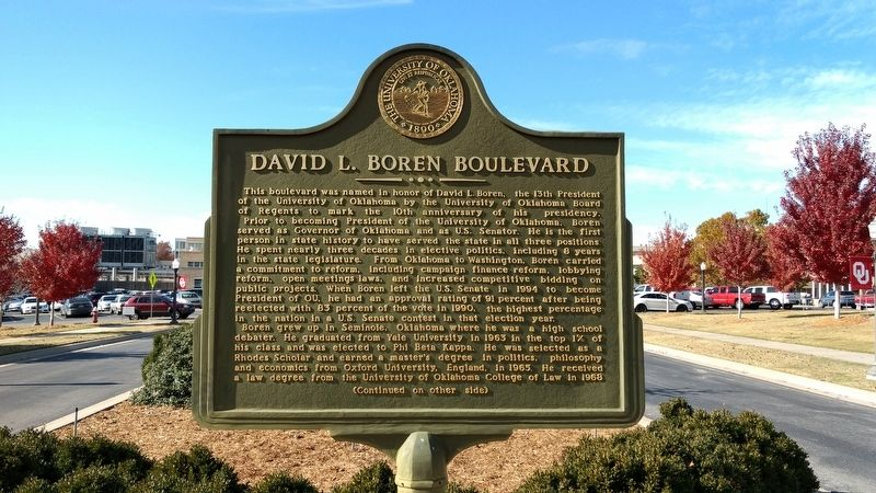 David L. Boren Boulevard Marker image. Click for full size.