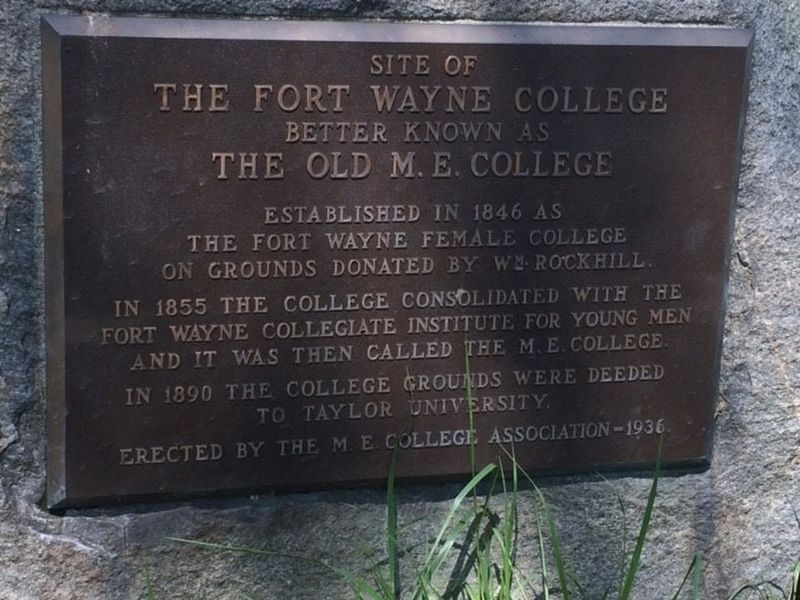 Site of the Fort Wayne College Marker image. Click for full size.