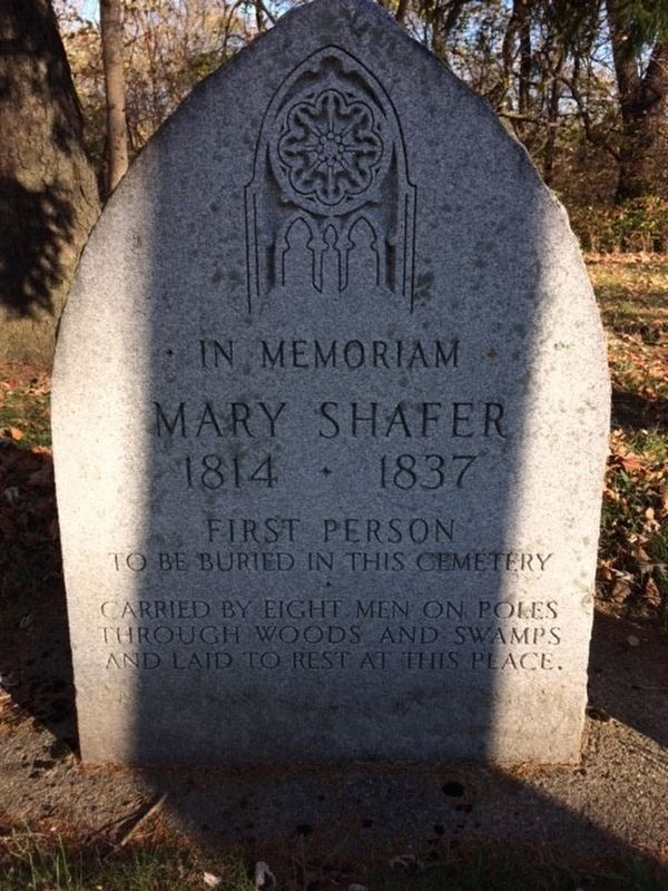 Mary Shafer Marker image. Click for full size.