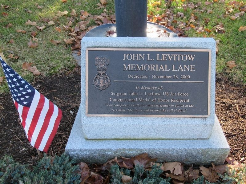 John L. Levitow Memorial Lane Marker image. Click for full size.
