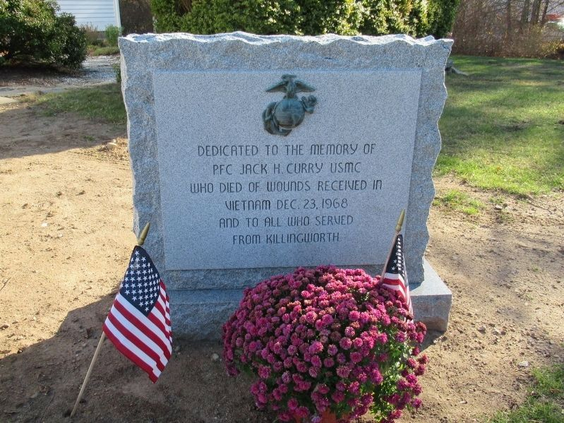 PFC Jack H. Curry USMC Memorial image. Click for full size.