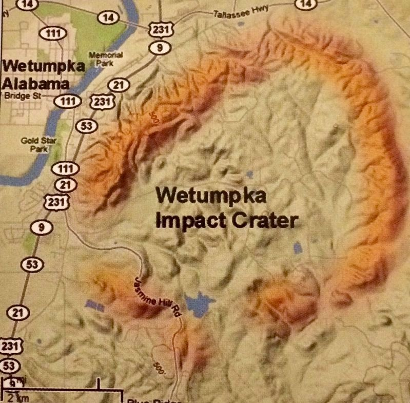 Wetumpka Impact Crater Map image. Click for full size.