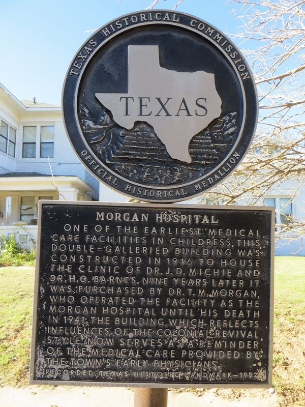 Morgan Hospital Marker image. Click for full size.