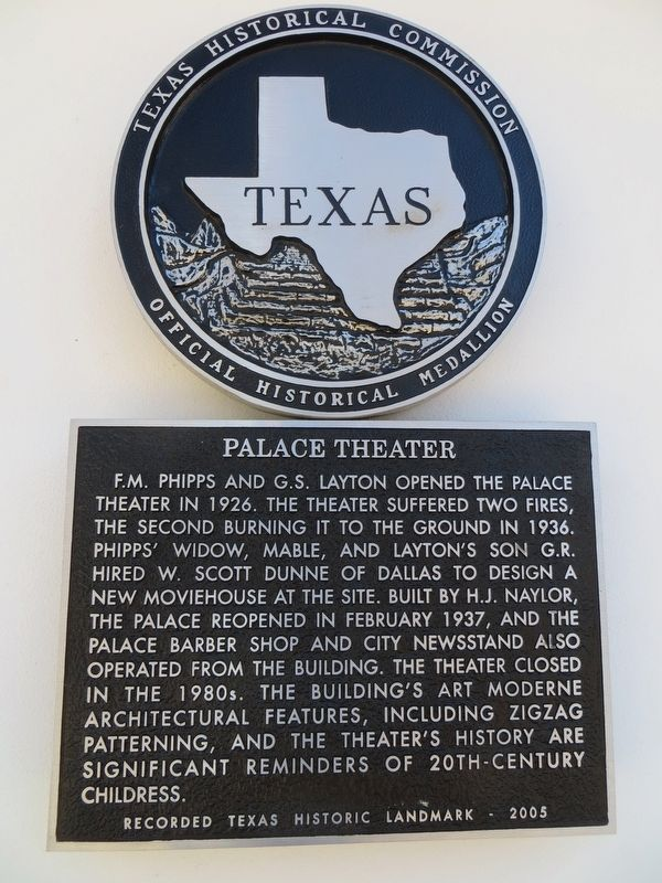 Palace Theater Marker image. Click for full size.