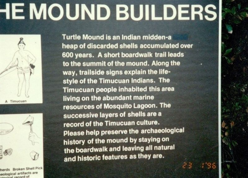 The Mound Builders Marker image. Click for full size.