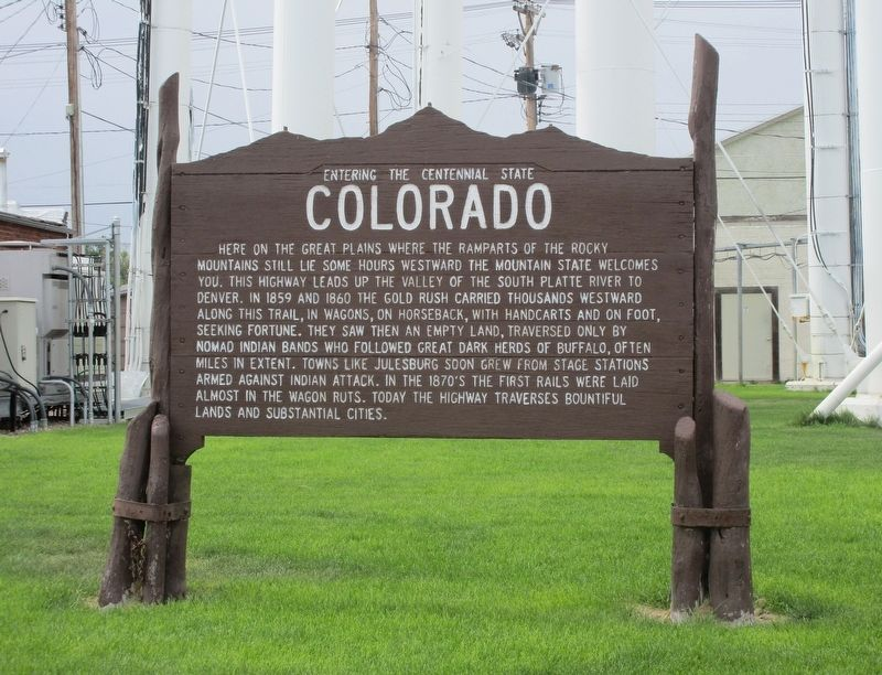 Entering the Centennial State – Colorado Marker image. Click for full size.