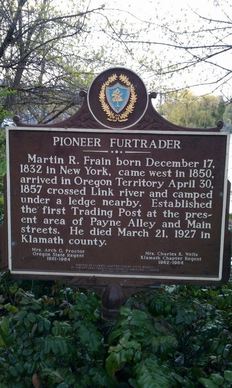 Pioneer Furtrader Marker image. Click for full size.