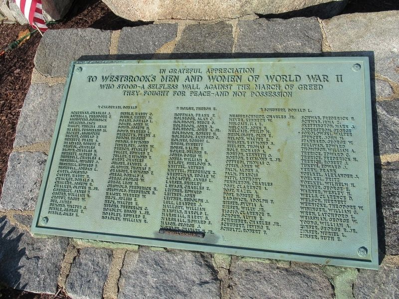 Westbrook World War II Monument image. Click for full size.
